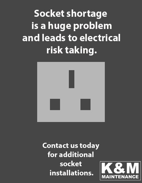 socket shortage and overloading dangers